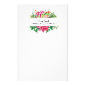 Personalized White Christmas Gifts Stationery