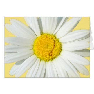 Personalized White Daisy Wedding Greeting Card Card
