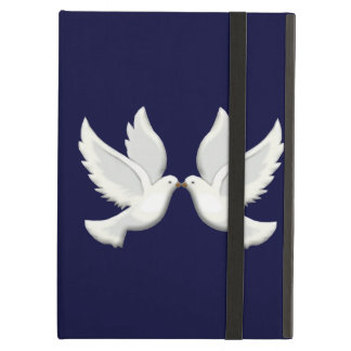 Personalized White Doves On Blue iPad Case
