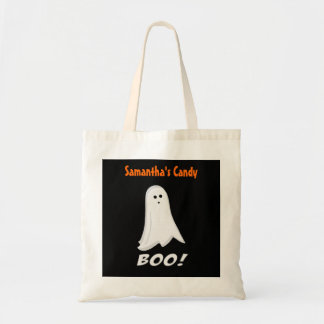 Personalized White Ghost Halloween Treat Bags