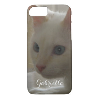 Personalized White Kitty Case