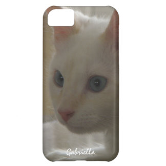 Personalized White Kitty Case iPhone 5C Case