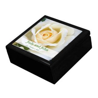 Personalized White Rose Wedding Gift Box