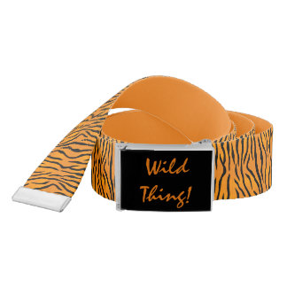 Personalized Wild Thing Tiger Stripes Belt