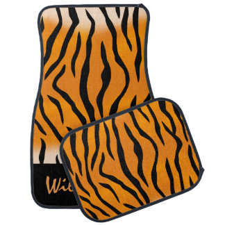 Personalized Wild Thing Tiger Stripes Car Mat