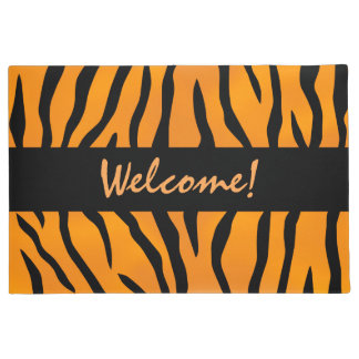 Personalized Wild Thing Tiger Stripes Doormat