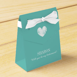 Personalized Will you be my bridesmaid favor box