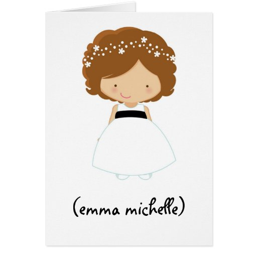 """Personalized """"Will You Be My Flower Girl?"""" Card"""