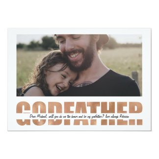 Personalized Will You Be My Godfather Card
