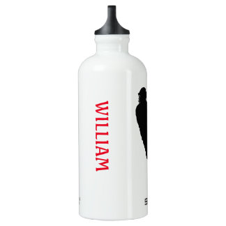 Personalized William Lacrosse Male Player Water Bottle