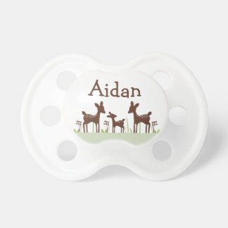 "Personalized ""Willow Deer"" Baby Pacifier"