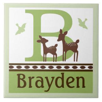 Personalized Willow Deer Letter Name Tile