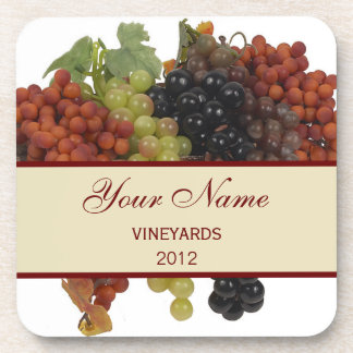 Personalized Wine Label Coasters