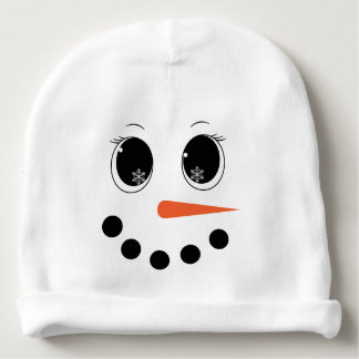 Personalized Winter Snowgirl Baby Hat Beanie Baby Beanie