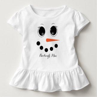 Personalized Winter Snowgirl Toddler Ruffle Shirt