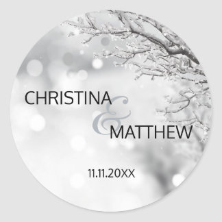 Personalized Winter Wonderland Snow Wedding SEAL