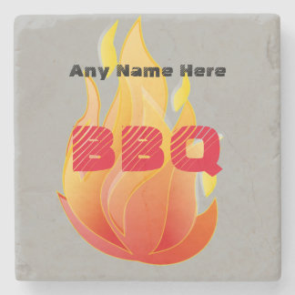 Personalized with Any Name, BBQ - Stone Coaster