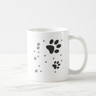 Personalized with patinhas dark coffee mug