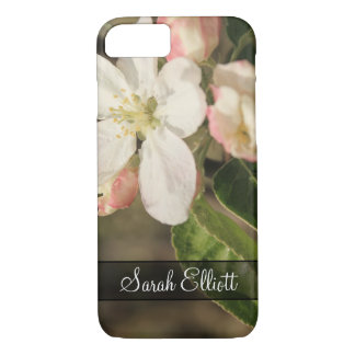 Personalized with Photo of Apple Tree Blossoms iPhone 8/7 Case