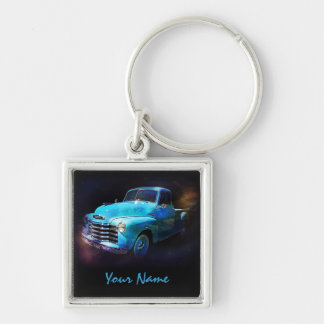Personalized with Your Name -  Antique Truck Key Ring