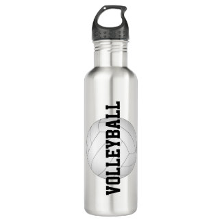personalized women's volleyball stainless steel 710 ml water bottle