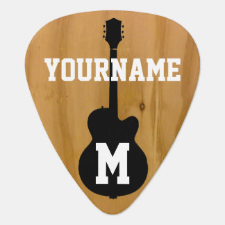 personalized wood-color standard plectrum