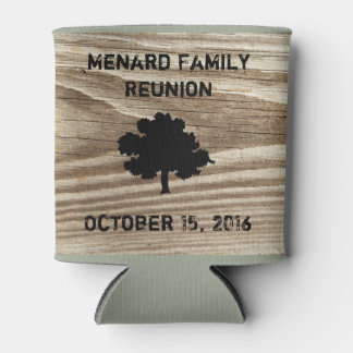 Personalized Wood Grain Can Coozy Holder