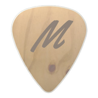 personalized wood texture rustic acetal guitar pick