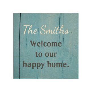 Personalized Wood Welcome Sign