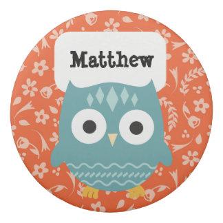 Personalized Woodland Animals Blue Owl Eraser