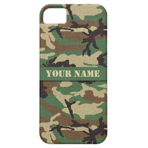 Personalized  Woodland Camouflage iPhone 5/5S Case