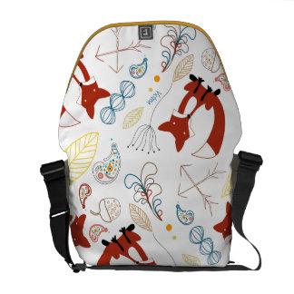 Personalized Woodland Fox Woodland Acorn Leaf Messenger Bags