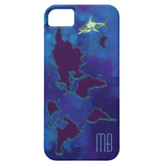 personalized world map & shark case for the iPhone 5