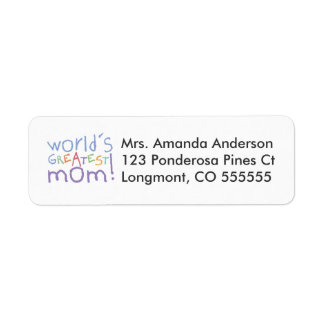 Personalized World's Greatest Mom Address Labels