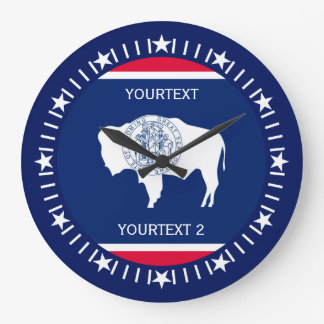 Personalized Wyoming State Flag Design on a Large Clock