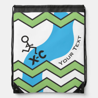 Personalized XC Cross Country Runner Drawstring Bag