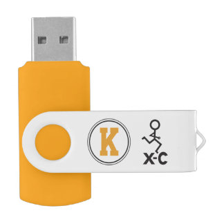 Personalized XC Cross Country Runner Monogram Swivel USB 2.0 Flash Drive