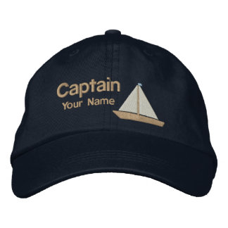 Personalized Yacht Captain Embroidered Hat