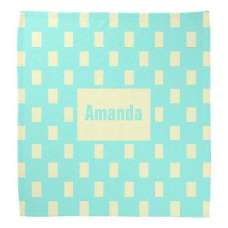 Personalized Yellow and Blue Pattern Bandana