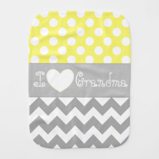 Personalized yellow baby burp cloth