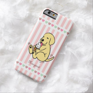 Personalized Yellow Labrador Ice Cream Dream Barely There iPhone 6 Case