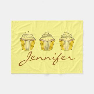 Personalized Yellow Lemon Cake Cupcake Blanket