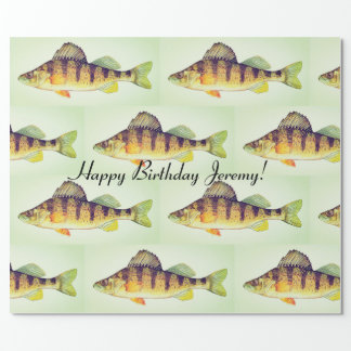 "Personalized ""Yellow Perch"" Wrapping Paper"