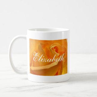 Personalized Yellow Rose Coffee Mug