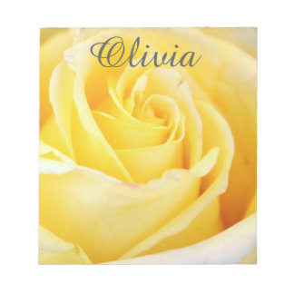 Personalized Yellow Rose Notepad