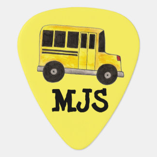 Personalized Yellow School Bus Driver Guitar Pick