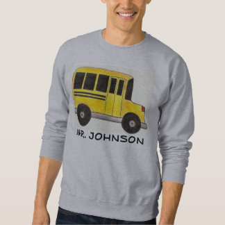 Personalized Yellow School Bus Driver Sweatshirt