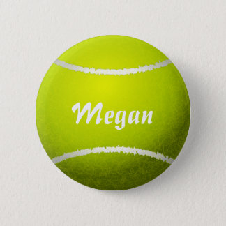 Personalized Yellow Tennis Ball 6 Cm Round Badge