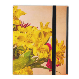 Personalized Yellowed Flowers print iPad Case