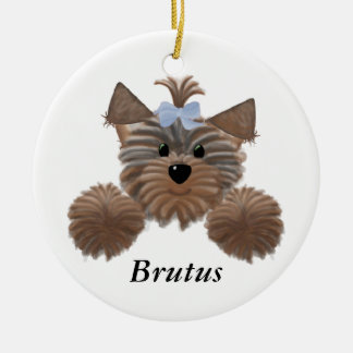 Personalized Yorkie Christmas Ornament